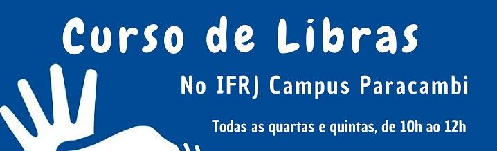 cartaz em azul, escrita em branco