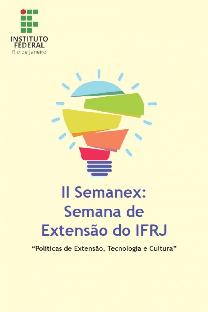 Capa do livro da II SEMANEX