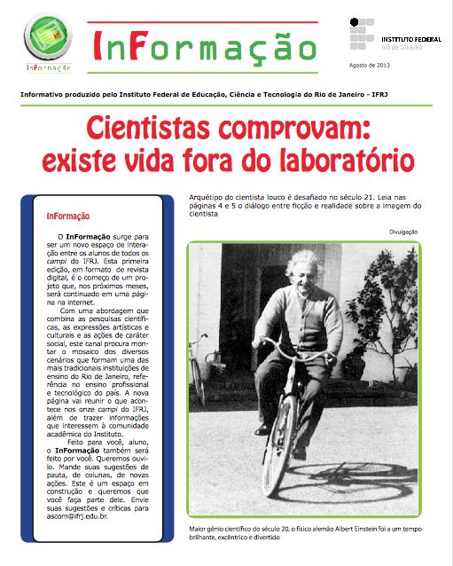 Capa da Revista InFormação nº 1