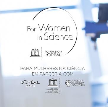 Imagem de divulgação do Programa Para Mulheres na Ciência 2019